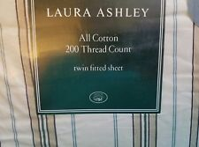 NEW LAURA ASHLEY BOVARY STRIPE TWIN FITTED SHEET