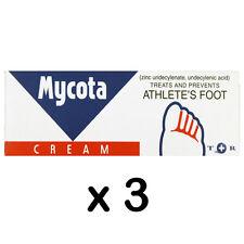 MYCOTA CREAM 25g x 3 Tubes TREATS AND PREVENTS ATHLETE'S FOOT