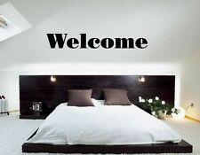 Wall Sticker Vinyl Decal Welcome Witty Quote Decor Bedroom (ig1175)