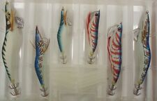 Squid Jig Pack Qty 6 in Plastic Tackle Box