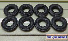 Für Slotcar Racing Modellbahn --8 Reifen für Flachanker oder Blockmotor