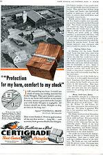 1941 Certigrade Red Cedar Shingles Farm Barn Print Ad Like Feathers on a Bird