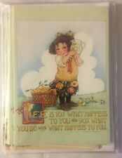 Mary Engelbreit - Life is 10% Lemonade and Cactus (8)Notecards and (8)8Envelopes
