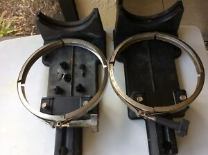 Lot Of 2 (two) Units Water Pump Stand, Brackets And Plugs