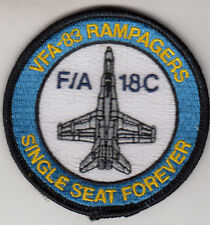 VFA-83 RAMPAGERS SINGLE SEATS FOREVER SHOULDER PATCH