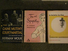 The Caine Mutiny,Raisin In The Sun,Tea & Sympathy/lot of 3 1st Ed Fireside Theat