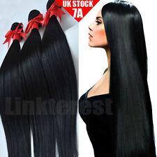 7A 300g/3Bundles Brazilian Peruvian Indian Virgin Human Hair Body Weave UK M993