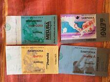 4 BIGLIETTI STADIO CALCIO SAMPDORIA VS. INTER ATALANTA EMPOLI 86/87 E 92/93