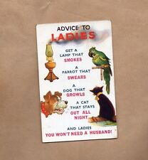 Bamforth Risque comic card No 1211 Advice To Ladies posted 1956 xc1
