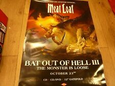 "MEAT LOAF BAT OUT OF HELL 3  PROMO ALBUM POSTER 27 ""X 20"" WITH FREE UK POSTAGE"