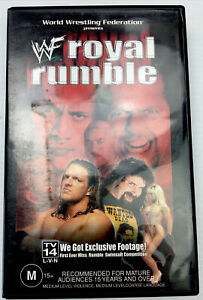 WWF Royal Rumble 2000 Wrestling VHS Video Cassette Tape PAL M15+