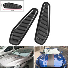 Carbon Fiber Surface Car Air Flow Scoop Turbo Bonnet Vent Cover Hood Fende Decal