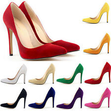 New Women Shoes Sexy Suede High Heels Pointed Hot Style Work Shoes Pumps Court