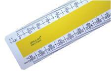 """150mm 6"""" No.3 architects scale ruler 1:1 1:100 1:20 1:200 1:5 1:50 1:1250 1:2500"""