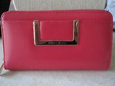 NWT Jimmy Choo Pippa Zip Around Leather Wallet- Geranium Pink- $575