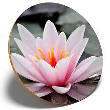 1 x Pretty Lotus Lily Flower - Round Coaster Kitchen Student Kids Gift #13117