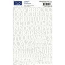 KAREN FOSTER DESIGN HEADLINE WHITE  ALPHABET CARDSTOCK SCRAPBOOK STICKERS
