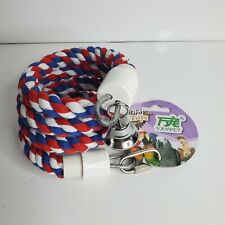 1/2-Inch by 45.5-Inch Cotton Rope Bungee Bird Perch Toy with Bell