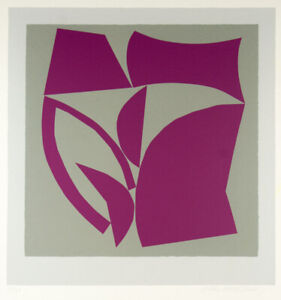 Alun LEACH JONES Untitled (Pink Shapes) - Signed Abstract Screenprint, The Field