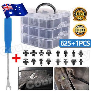 625X Car Body Trim Clips Retainer Bumper Screw Panel Plastic Fastener Kit AU