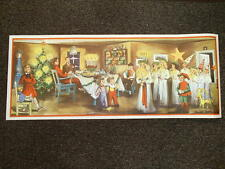 Scandinavian Swedish Christmas Poster Print with Lucia Straw Goat Mora clock #14