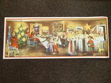 Scandinavian Swedish Christmas Poster Print with Lucia Straw Goat Mora clock #14