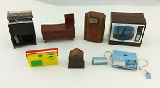 Vintage Dollhouse Lundby Record Player, Tape Recorder, Boombox, Radios, and TV