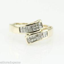 1.30 CT. GENUINE SI1-G PRINCESS DIAMOND WRAP RING 14K YELLOW GOLD size 6.75