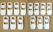 7pc 1982 TYCO Datsun 280-ZX 280Z Nissan Slot Car UNFINISHED WHITE BODY noWS/Wing