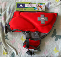 Top Paw Red Life Jacket (Size Large: Dogs 55-85 lbs) New