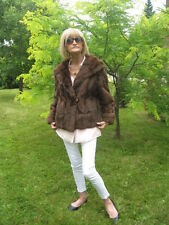 #A8 wow That is for me gorgeous squirrel fur coat brown color, small fit 6/7