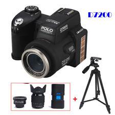 POLO D7200 33MP HD Digital Camera DSLR Camcorder+Telescope+LED Sportlight+Tripod