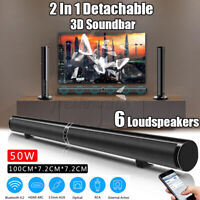 50W 5.1 Wireless bluetooth Soundbar Stereo 8 Speaker Remote Subwoofer Echo-wall