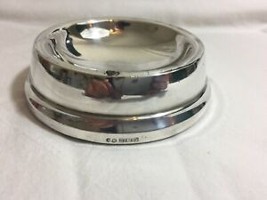 VINTAGE 1968 BIRMINGHAM SOLID SILVER CIGAR ASHTRAY, 127.7 grams