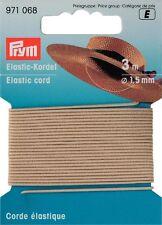 € 0,55 / m Prym Elastic-Kordel beige 3m/Ø1,5mm Hutgummi Bastelgummii 971068