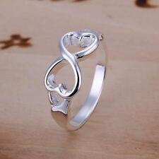 2018 new 925 SILVER filled jewelry Figure 8 ring size 8 Female Fashion Fine gift