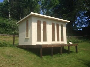 Garden room  Summerhouse Home Office double glazed style  14x10 ERECTED  FOR FRE