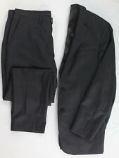 Oliver Wicks Vitale Barberis Canonico 110's Wool Gray Suit 38R Custom Tailored