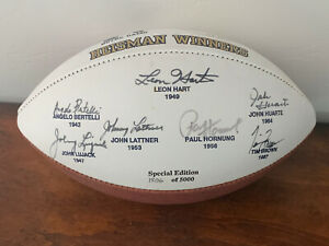 Notre Dame Heisman Trophy All 7 Winners Signed Football Autographed 1806/5000