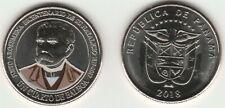2019 New colored coin of Panama / Un Cuarto de Balboa  2018 / Justo Arosemena