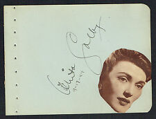 "Anita Colby (d. 1992) signed autograph 4x5 Album Page Actress: ""Cover Girl"" 1944"