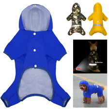 Dog Raincoat Small Medium Waterproof Pet Puppy Doggie Rainwear Reflective Outfit