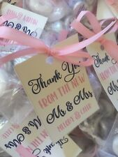 "16 Thank You from the New Mr & Mrs Wedding Favor Tags 2 "" X 2.5"" Hotel Bags Gift"