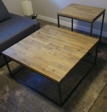 Casana Square Acacia Coffee Table And End Table Set