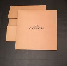 Coach Gift Box Only LARGE Sized Boxes SET LOT OF 5 LARGE BOXES Tan w/ Black Logo