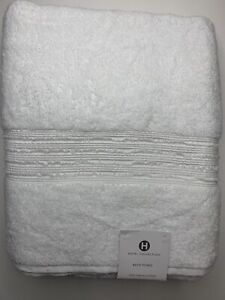 "New Hotel Collection Turkish Cotton Large Bath Towel WHITE 30"" x 56"""