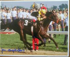 Jean Cruguet Seattle slew autograph  triple crown 1977 signed 8x10 phtograph