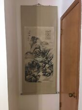 New listing Mountain Waterfall Scene Old Chinese Large Scroll Painting