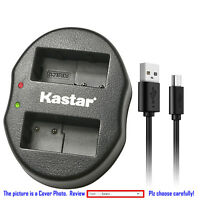 Kastar Battery Dual Charger for Leica BP-DC12 & Leica V-Lux 4 Leica Q (Typ 116)