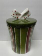 Cookie Jar All Wrapped up with a Bow Cookie Jars Glazed Ceramic Oneida